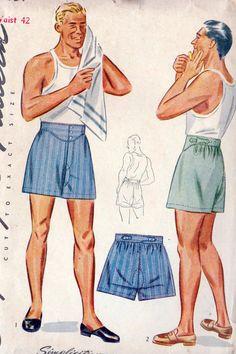 1940s Mens Boxer Shorts