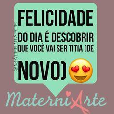 Compartilho com vocês essa notícia boa!!!!!! Bota felicidade nisso!!!#materniarte