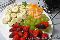 Receita de Fondue de Chocolate Light com Frutas