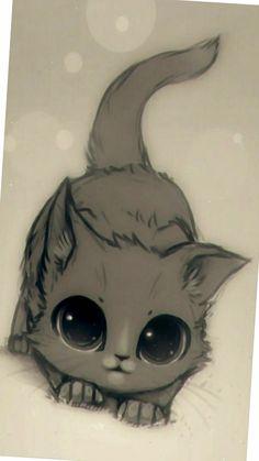 Котик,  рисовать