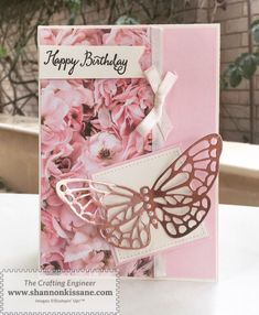 Springtime Butterfly – Shannon Kissane – The Crafting Engineer Paper Anniversary, Year Anniversary Gifts, Anniversary Ideas, Butterfly Cards, Flower Cards, Coffee Cards, Stampin Up Catalog, Stamping Up Cards, Handmade Birthday Cards