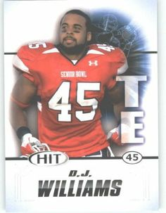 2011 Sage HIT Football Card #75 D.J. Williams (RC - Rookie Card) Clemson FIRST EVER Professional Trading Card - Shipped in Protective Screwdown Case by Score. $1.89. 2011 Sage HIT Football Card #75 D.J. Williams (RC - Rookie Card) Clemson FIRST EVER Professional Trading Card - Shipped in Protective Screwdown Case