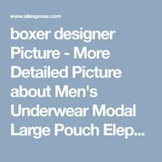 boxer designer Picture - More Detailed Picture about Men's Underwear Modal Large Pouch Elephant Nose U Convex Design Men's Low Waist Boxers Picture in Boxers from Youthmap-ulikestyle Store | Aliexpress.com | Alibaba Group