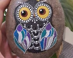 Dot Art Mandala Painted Stone Fairy Garden Gift Decoration Painted Rock Beachestone. Big stoune Hand painted stoune 10:12sm 500gr I am a new seller from Russia ( sorry for my English ) all my products are high quality, painted carefully and with love! I really like to draw on pebbles) any of my works I can make to order in the colours as You want, the deadline 1-3 days, the price is the same . I also have a Internet shop in Russian market masters, there are a lot of positive feedback about…