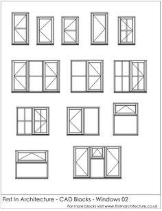 Free CAD Blocks – Windows 02 via @1starchitecture