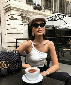Simple Summer Outfits, Fashion Outfits, Womens Fashion, Fashion Trends, Fashion Beauty, Girl Fashion, Coffee Girl, Classy Aesthetic, Parisian Style
