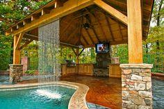 outdoor kitchen waterfall 2