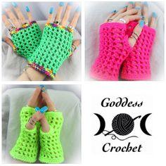 Madonna Wristers - Free crochet pattern
