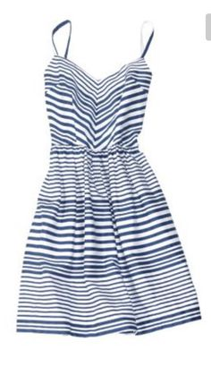 Great blue and white stripe spaghetti strap summer dress. Stitch fix spring summer 2016. So pretty!
