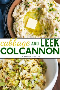 Dress up your mashed potato repertoire with a bowl of colcannon! This Irish potato dish with sautéed leeks and cabbage is perfect to serve with corned beef for St. Patrick's Day dinner and beyond. via Spatula® Leek Recipes, Corned Beef Recipes, Cabbage Recipes, Vegetable Recipes, Gourmet Recipes, Vegetarian Recipes, Cooking Recipes, Sauteed Cabbage, Corn Beef And Cabbage
