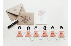Great idea for bridesmaid announcement. Why didn't I think of that?!