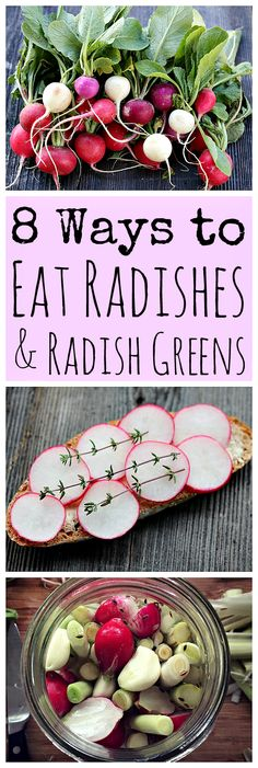 Radishes are an awesome spring veggie, and there are many ways to eat them! Here are some great radish recipes.