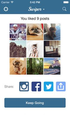 Share collages of the Instagram photos that you like with our just launched Swiper app! #free #app #launch