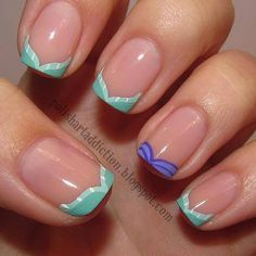 Little mermaid nails! @Elizabeth Lockhart Lockhart Lockhart Foust  you should try and get this done