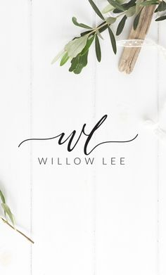 Elegant with an edge - this premade logo design features a rustic hand-lettered calligraphy font with gorgeous swashes to symbolise your two initials, followed by your name in a minimal classic font.   www.etsy.com/...