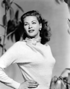 """Yvonne De Carlo, 1949 - She was cast in her first important role opposite Burt Lancaster in the film noir Criss Cross (1949). Bosley Crowther noted that De Carlo is """"trying something different as Anna. The change is welcome, even though Miss de Carlo's performance is uneven. In that respect, she is right in step with most everything else about Criss Cross.""""  Film: Calamity Jane and Sam Bass (1949) - Calamity Jane The Gal Who Took the West (1949)"""