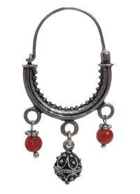 Traditional silver filigree + coral jewellery from Split, Croatia.