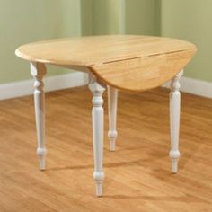 Shop for Two-tone 40-inch Rubberwood Round Drop-leaf Table. Get free shipping at Overstock.com - Your Online Furniture Outlet Store! Get 5% in rewards with Club O! - 11608107