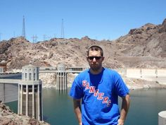 Twitter fan @RealistSpeaking represented the Rangers at the Hoover dam this summer. #IsItOctoberYet