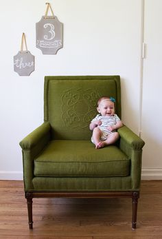 angela hardison.: margo, 3 months old.// love the chalkboards on the wall