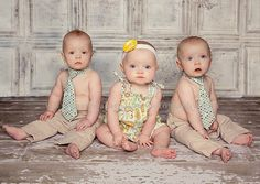 triplets 6 month outfits?