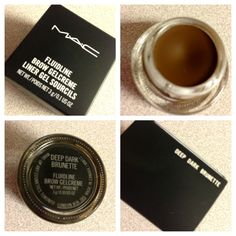 Use to control brow hairs and fill them in - impossible MAC product to find