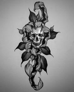 Neo Tattoo, Tattoo Uk, Gothic Tattoo, Dark Tattoo, Tatoo Art, Creepy Tattoos, Skull Tattoos, Black Tattoos, Body Art Tattoos