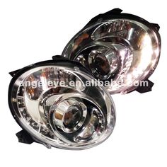 484.00$  Watch now - http://ali3jg.worldwells.pw/go.php?t=32543000764 - 2007 to 2014 year For Dodge Fiat 500 LED Head Lamp Assembly front lights for Fiat Chrome Housing SN