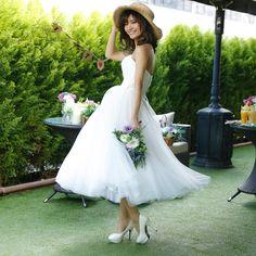 PLATINUM Dress STYLE(プラチナ ドレス スタイル)新作ドレス入荷★2次会ミモレ丈ドレス|ウエディングドレスを探す|ゼクシィ