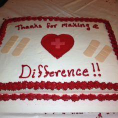 Our nurses week cake. Nursing Gifts, Nurses Week Gifts, Nurses Day, National Nurses Week, National Doctors Day, Nurse Appreciation Week, Employee Retention, Felt Gifts, Nurse Quotes