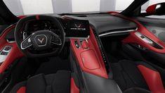 Car Interior Design, Car Interior Accessories, Interior Colors, Interior Ideas, Red Interiors, Colorful Interiors, Elantra Car, Car Interior Upholstery, Black Corvette