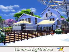 evi Christmas Lights Home Big Kitchen, Sims Community, Electronic Art, Enjoy It, Christmas And New Year, Second Floor, Christmas Lights, Mansions, House Styles
