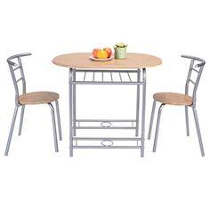 Fashion 3 PCS Table Chairs Set Kitchen Furniture Pub Home Restaurant Dining Set