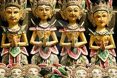 Balinese woodcarving puppets ubud bali by Donsimon, via Dreamstime