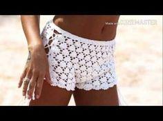 SHORT EM CROCHÊ/ CONJUNTOS DE CROCHÊ PRAIA - YouTube Beach Crochet, Free Crochet, Knit Crochet, Crochet Shorts, Lace Shorts, Crochet Diagram, Crochet Patterns, Short Tejidos, Parte Superior Del Bikini