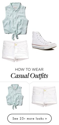 """""""Cute and casual"""" by jessieluv05 on Polyvore featuring Abercrombie & Fitch and Converse"""