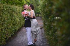 Katie & Dennis, Daniel Stowe Botanical Garden, Indigo Photography, Hall & Webb Event Design, Charlotte Wedding Planner, Wedding Kiss Photos