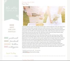 Premade Blogger Template - The Allie