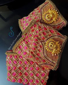 To get your outfit customized visit us at Chennai, Vadapalani or call/msg us at for appointments, online order and further… Cutwork Blouse Designs, Wedding Saree Blouse Designs, Pattu Saree Blouse Designs, Fancy Blouse Designs, Blouse Neck Designs, Sari Blouse, Saree Wedding, Wedding Wear, Hand Work Blouse Design