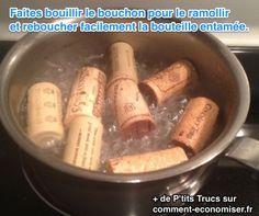 comment reboucher une bouteille de vin entammée