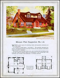 BUILDING WITH ASSURANCE: 1923 - Morgan House Plan 1-A | www.antiquehome.org