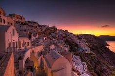 Sunrise view from Oia, Santorini island, Greece - selected by oiamansion.com