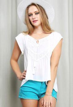 Embroidery Boho Top | Shop Tops at Papaya Clothing