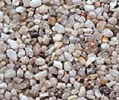 """Amazon.com : Safe & Non-Toxic {Small Size, 0.12"""" Inch} 25 Pound Bag of Gravel & Pebbles Decor Made of Genuine Quartz for Freshwater Aquarium w/ Simple Modern Natural Earthy Toned River Style [Tan & White] : Pet Supplies"""