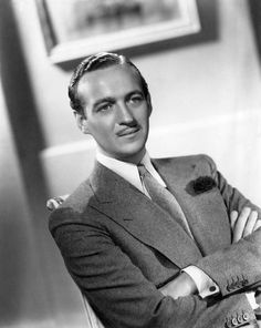 thestudenttailor:  David Niven looking impossibly dapper. The angles between his lapel peaks and shirt collar create a fascinating effect.