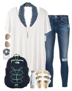 """""""following back on all social medias! rtd!"""" by sarahc01 ❤ liked on Polyvore featuring AG Adriano Goldschmied, Free People, The Row, The North Face, Birkenstock, Natasha Couture, Topshop, Ray-Ban and Isabel Marant"""