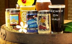 Garrett Marrero's Maui Brewing lineup of craft beers pays homage to the islands with a Bikini Blonde lager, Big Swell IPA, CoCoNut PorTeR and Mana Wheat beer. (Photo: Maui Brewing)