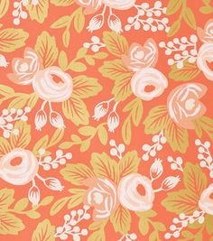 Rifle Paper Co wallpaper - persimmon rose. Gorgeous!