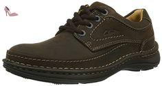 Clarks Nature Three, Derby homme - Marron (ebony Oily), 41.5 EU - Chaussures clarks (*Partner-Link)