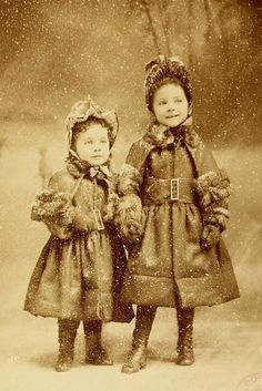 1887. I just love this, especially the expression on the older girl's face. :)
